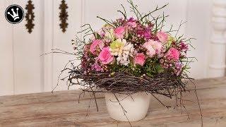 DIY - Frühlingsdeko | Valentinstag Geschenk | Strauß wie vom Floristen ganz einfach selber machen |