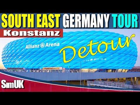 Allianz Arena Detour | Fernbus Simulator | South East Germany Tour Finale Augsburg to Konstanz