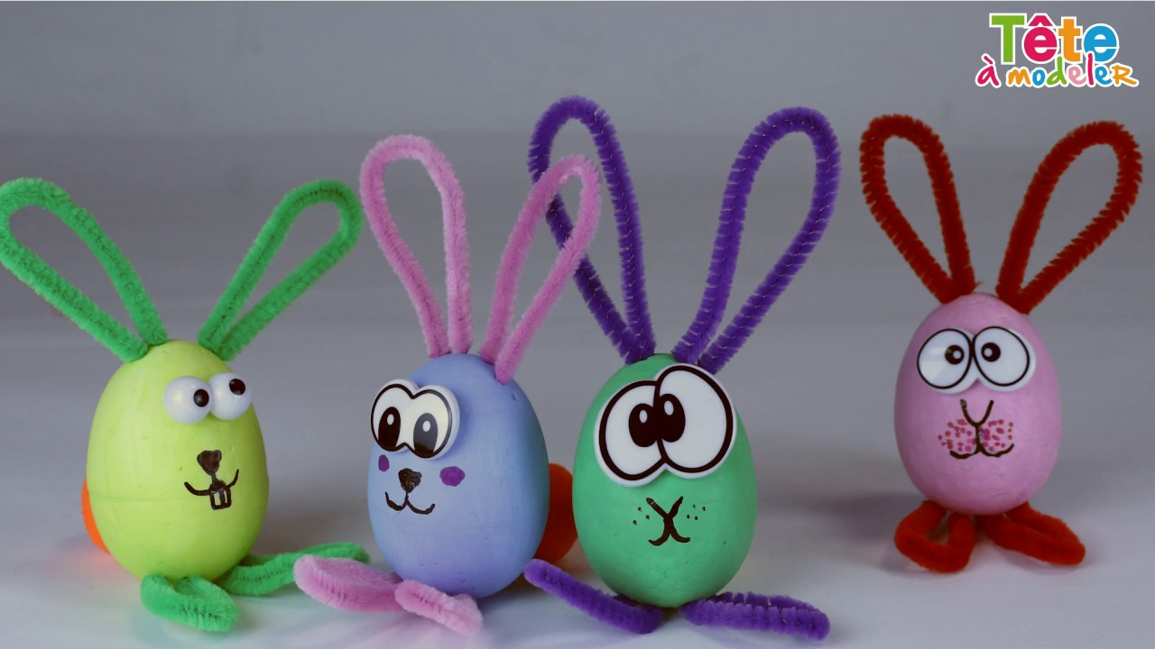 Tuto les lapins de p ques une vid o by t te modeler - Tete a modeler paques ...