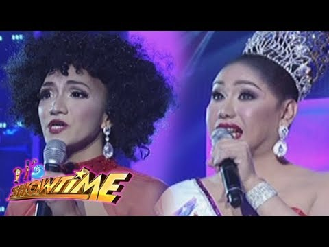 It's Showtime Miss Q & A: Sharbie Ikik Monteverde and Matrica Mae Matmat Centino in Beklamation