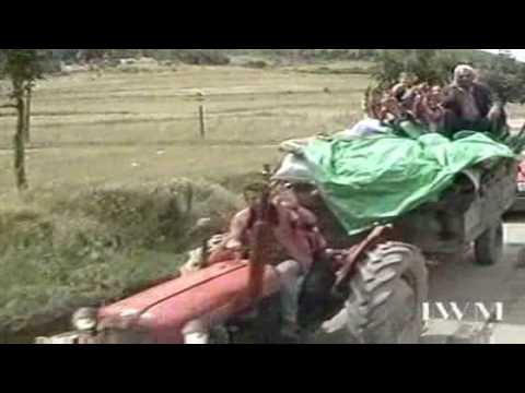Kosovo War Refugees - Headed to Albania