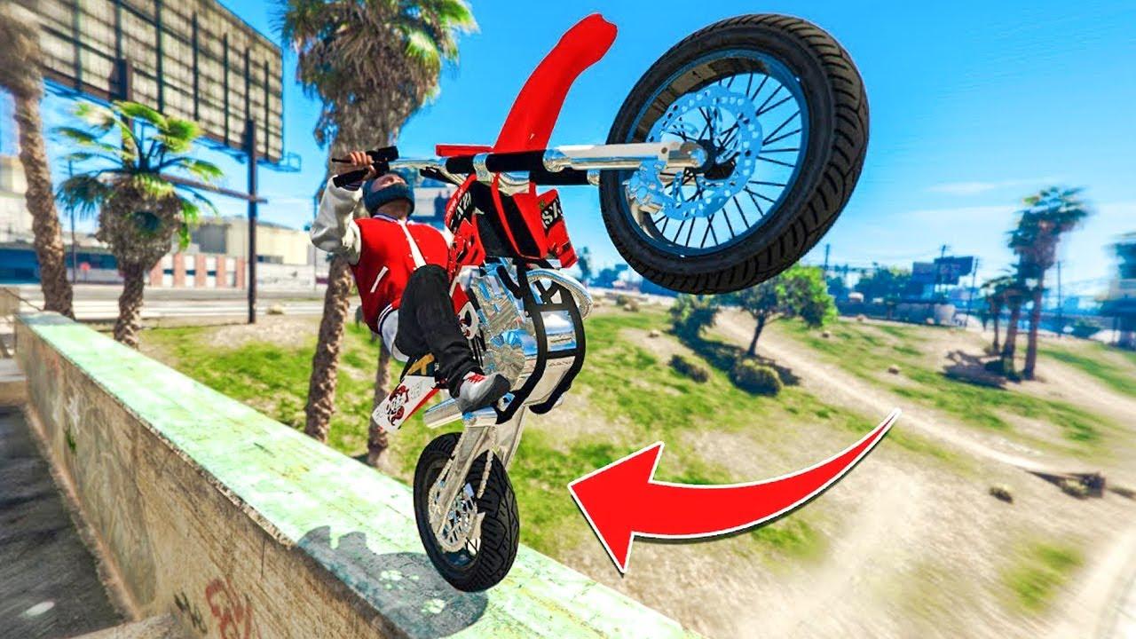 CRAZY REAL LIFE BIKE STUNTS! - (GTA 5 Stunts & Fails)