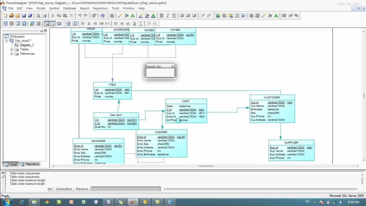 Generating database from powerdesigner to sql server youtube generating database from powerdesigner to sql server ccuart Image collections