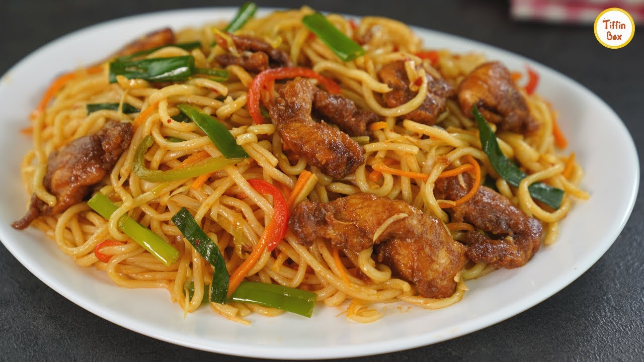 The Best Chicken Chow Mein Recipe Restaurant Style Chinese Stir Fried Noodles Recipe By Tiffin Box Youtube