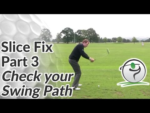 Golf Slice Fix – Part 3 – Check your Swing Path