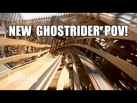 New Ghostrider Roller Coaster POV 2016 Knotts Berry Farm California