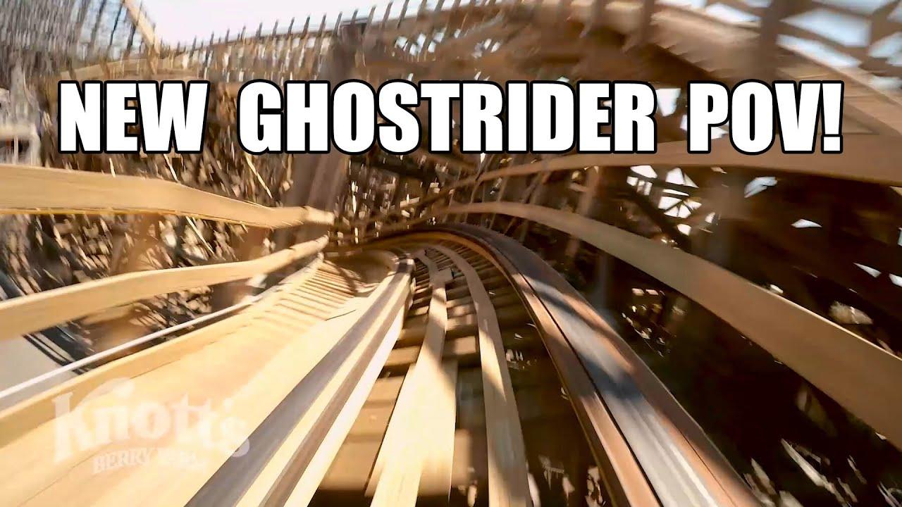 New Ghostrider Roller Coaster POV 2016 Knotts Berry Farm California ...