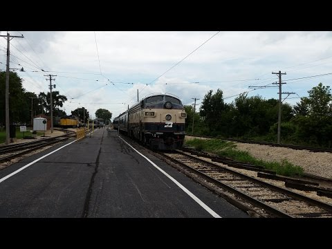 Cab Ride in F9-A BN-1 at the Illinois Railway Museum - 4K