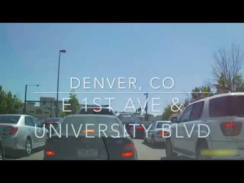 Driving In Colorado (Denver/Glendale) - Denver Speer & 11th Ave To Denver Leetsdale & Holly By Car