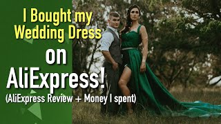 AliExpress Review | wedding dress shopping | aliexpress unboxing | hair and makeup review vlog