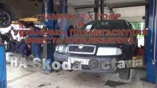 Пламегаситель на авто Skoda Octavia.Установка пламегасителя в СПБ.