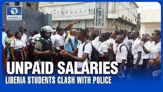 Students, Police Clash Over Unpaid Salaries