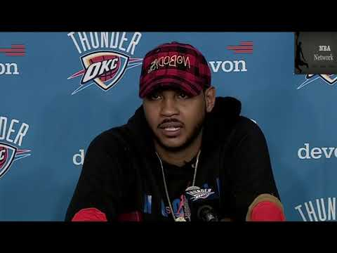 Carmelo Anthony [PostGame] on his OKC Thunder Debut & More