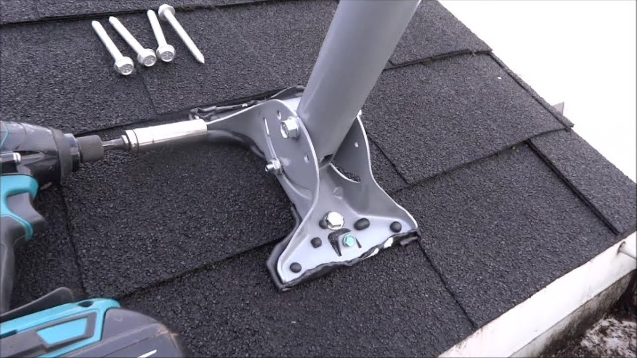 Satellite TV Dish Network Mounting and pointing the HD DISH - YouTube