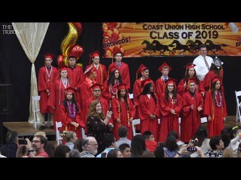 Watch Coast Union High School Class of 2019 graduate
