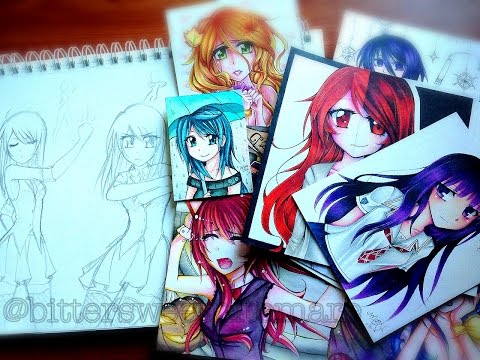 Manga Anime Drawings & Sketchbooks Update 2014