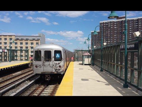 IND Rockaway Line: Brooklyn & Far Rockaway Bound R32 & R46 (A) Train @ Beach 36th Street