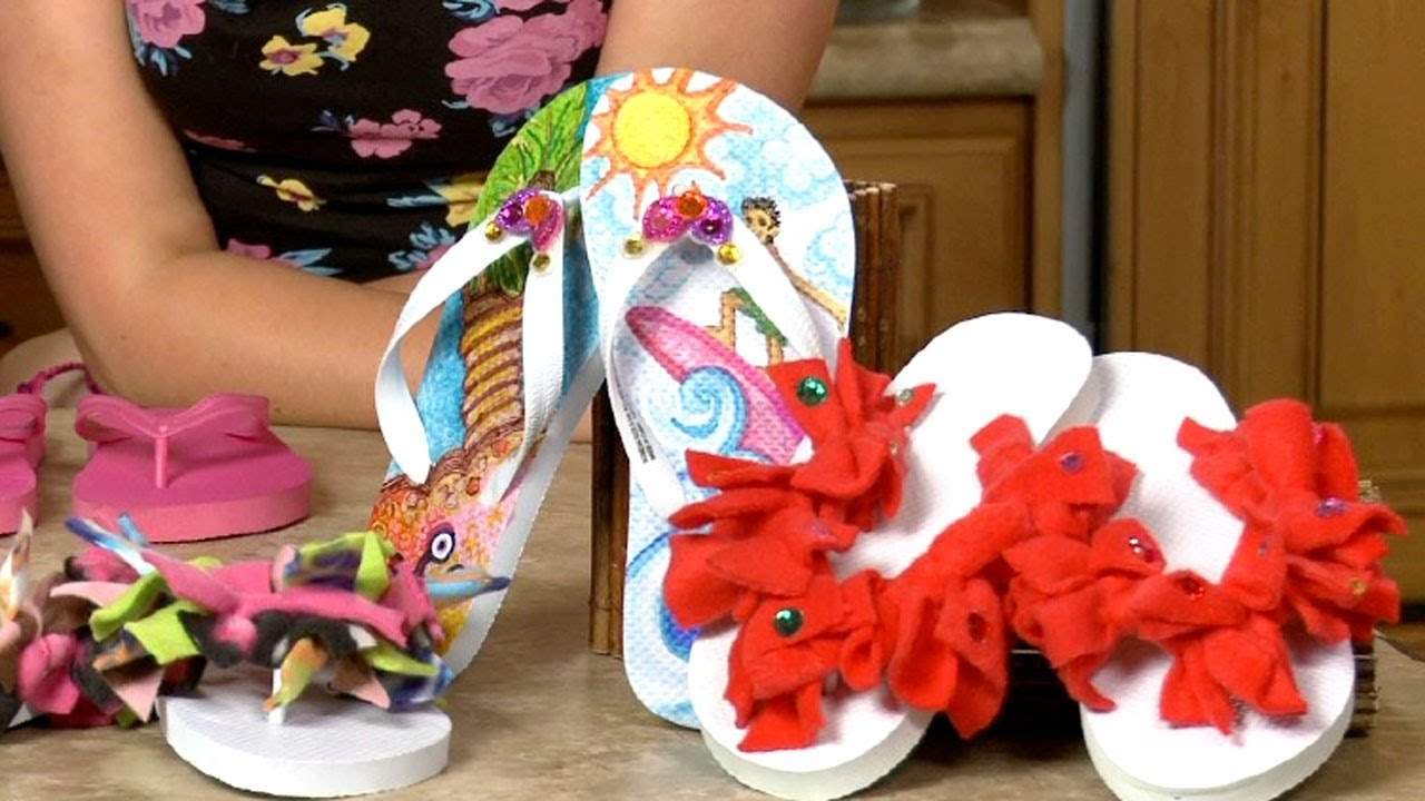 Sophie's World: Decorating flip-flops (Introducing Hanna