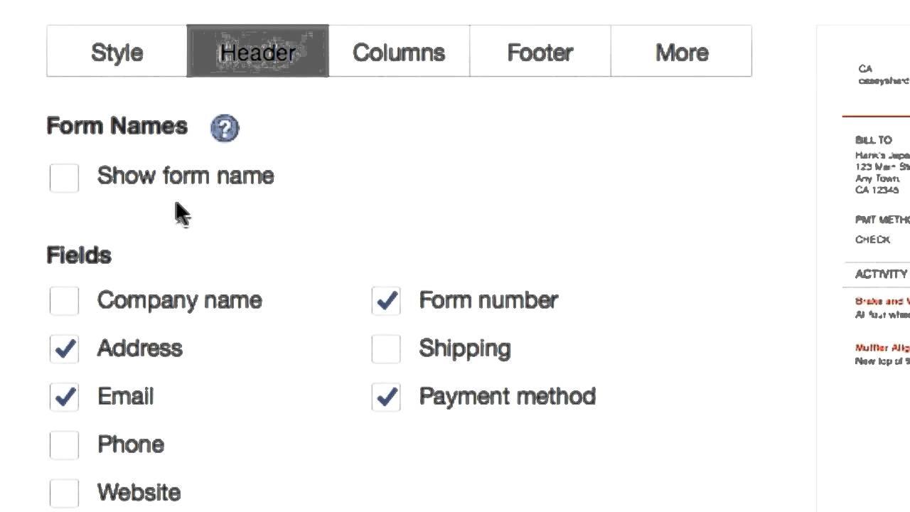 Quickbooks Online Create Send CUSTOM Invoice YouTube - Create custom invoice