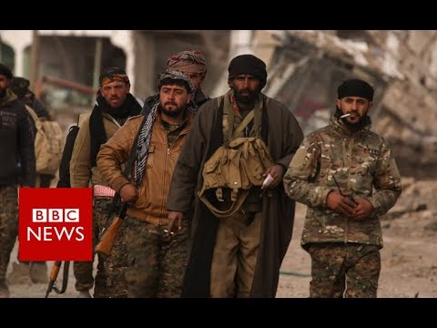 Syria War: On the frontline with SDF fighting IS  - BBC News