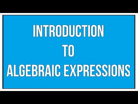 Introduction To Algebraic Expressions - Maths Algebra