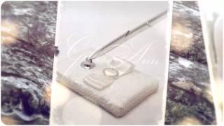 Свадебная ручка на подставке Gilliann Magic Ivory Lace PEN025