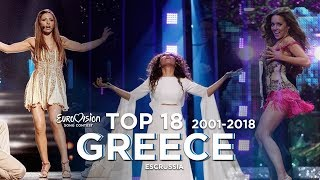 Greece in Eurovision - Top 18 (2001-2018)