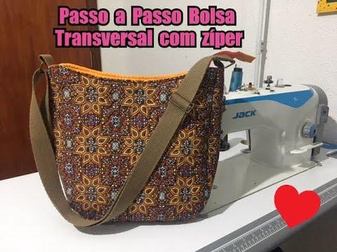 06319347d66 DIY - Passo a Passo Bolsa Sofia - Bolsa transversal com zíper