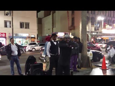 Los Angeles Hollywood Boulevard Awesome Street Dance Performance