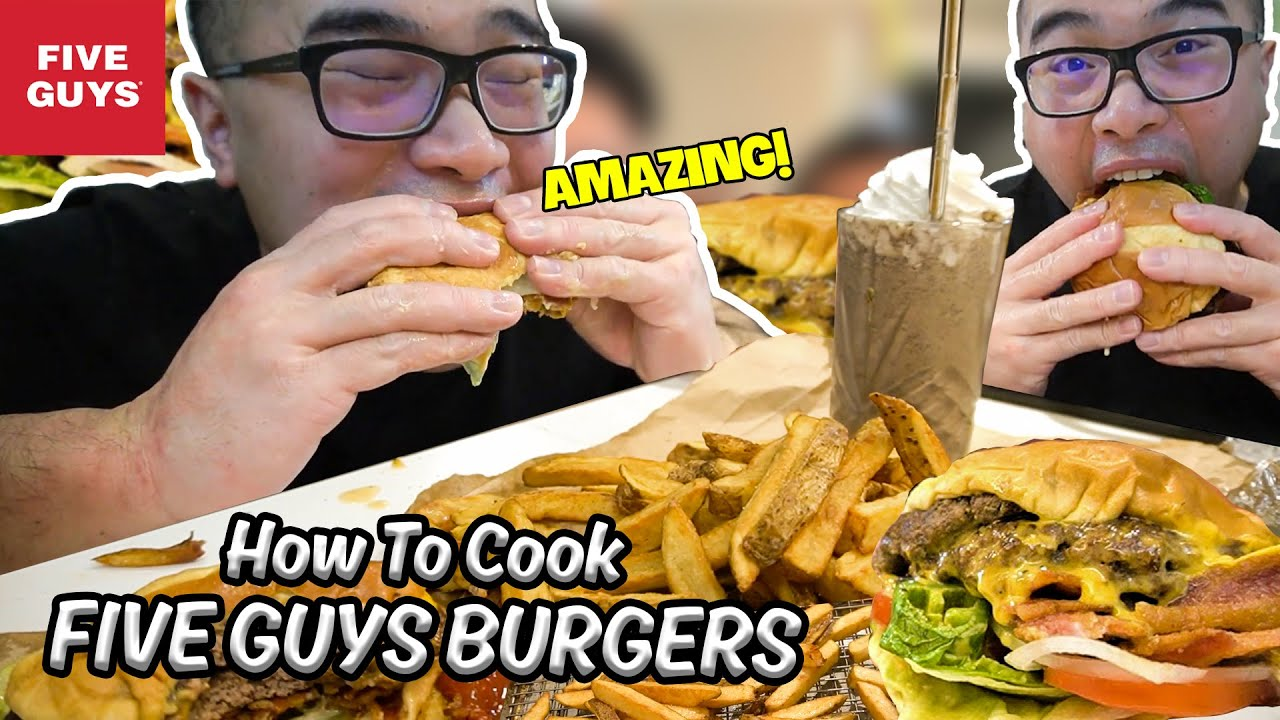 Download I Cooked 5 GUYS BURGERS & FRIES & MILKSHAKE