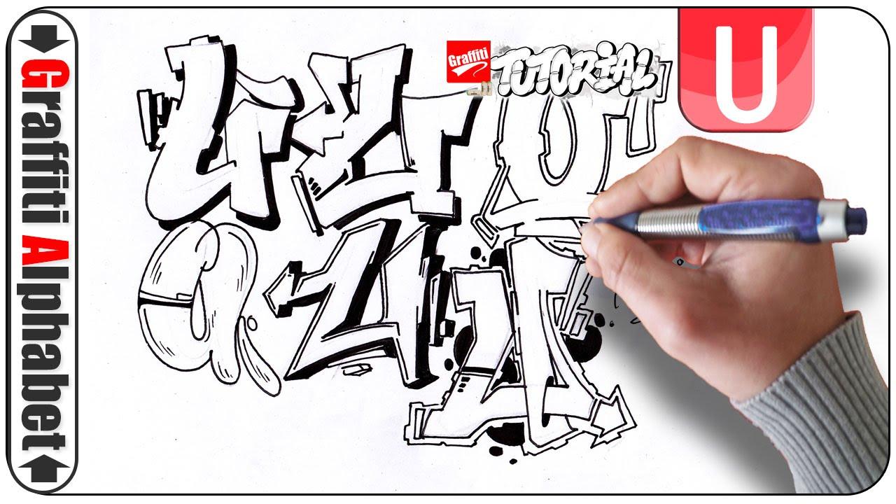 Graffiti Alphabet Buchstabe U Letra U Letter U Full Hd