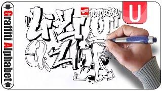 Graffiti Alphabet Buchstabe U - Letra U - Letter U - Full HD