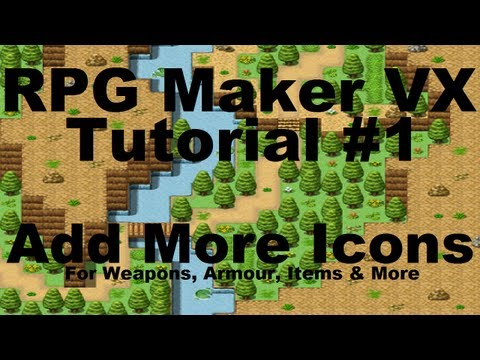 RPG Maker VX: How To Add More Icons For Weapons, Armour, Items Etc. |