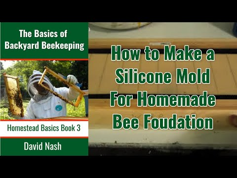 Making a Silicon Mold For Homemade Beeswax Foundation