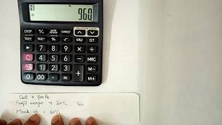 how to use MU function on calculator in hindi