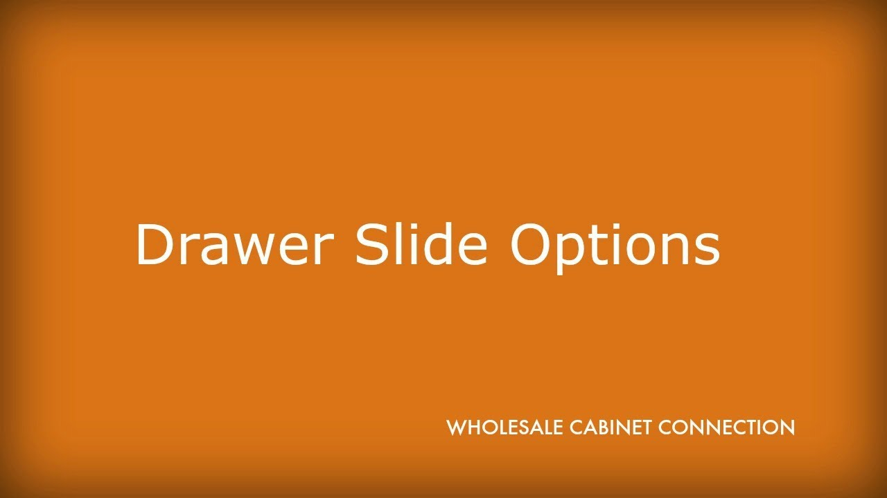 kitchen cabinet drawer slide options youtube