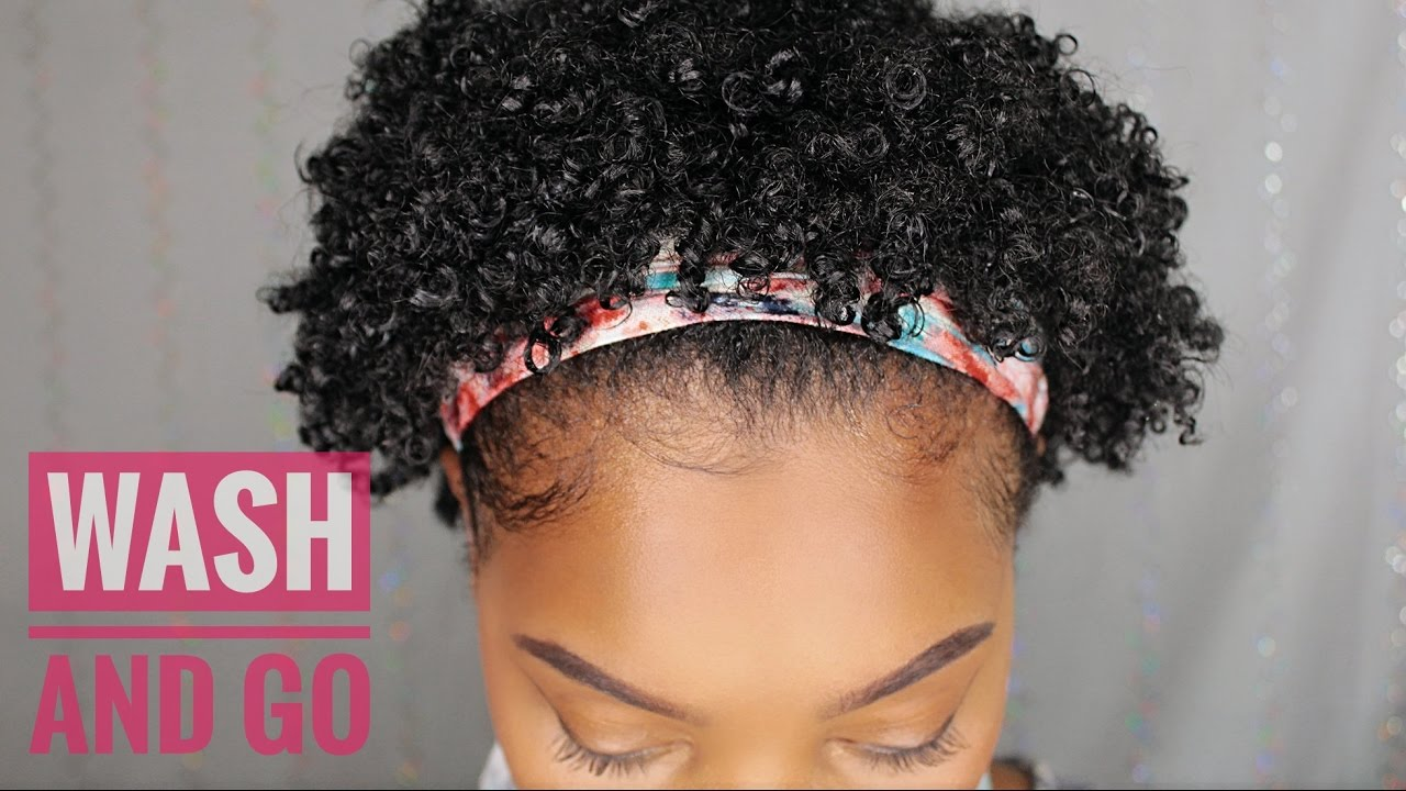 short natural hair | wash and go