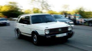 VW Golf II 400+ HP FWD. Unlegal drag VS BMW E36 450+ HP