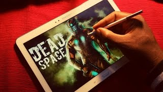DEAD SPACE SPEED DRAWING ON SAMSUNG TABLET. DRAW WITH ME