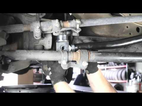 readylift ford super duty f250 f350 anti wobble trac bar installation -  youtube