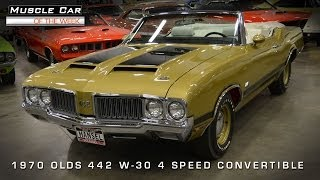 Muscle Car Of The Week Video #54: 1970 Oldsmobile 442 W-30 4-Speed Convertible