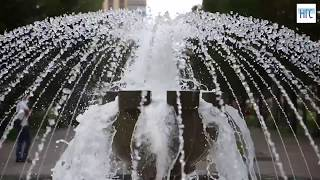 Фонтаны Новосибирска: красивое видео НГС