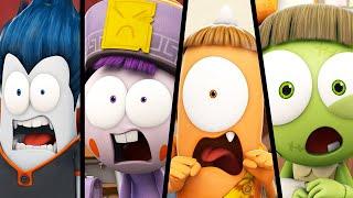 Funny Animated Cartoon | Spookiz Season 1 - Wiggle Wiggle | 스푸키즈 | Videos For Kids