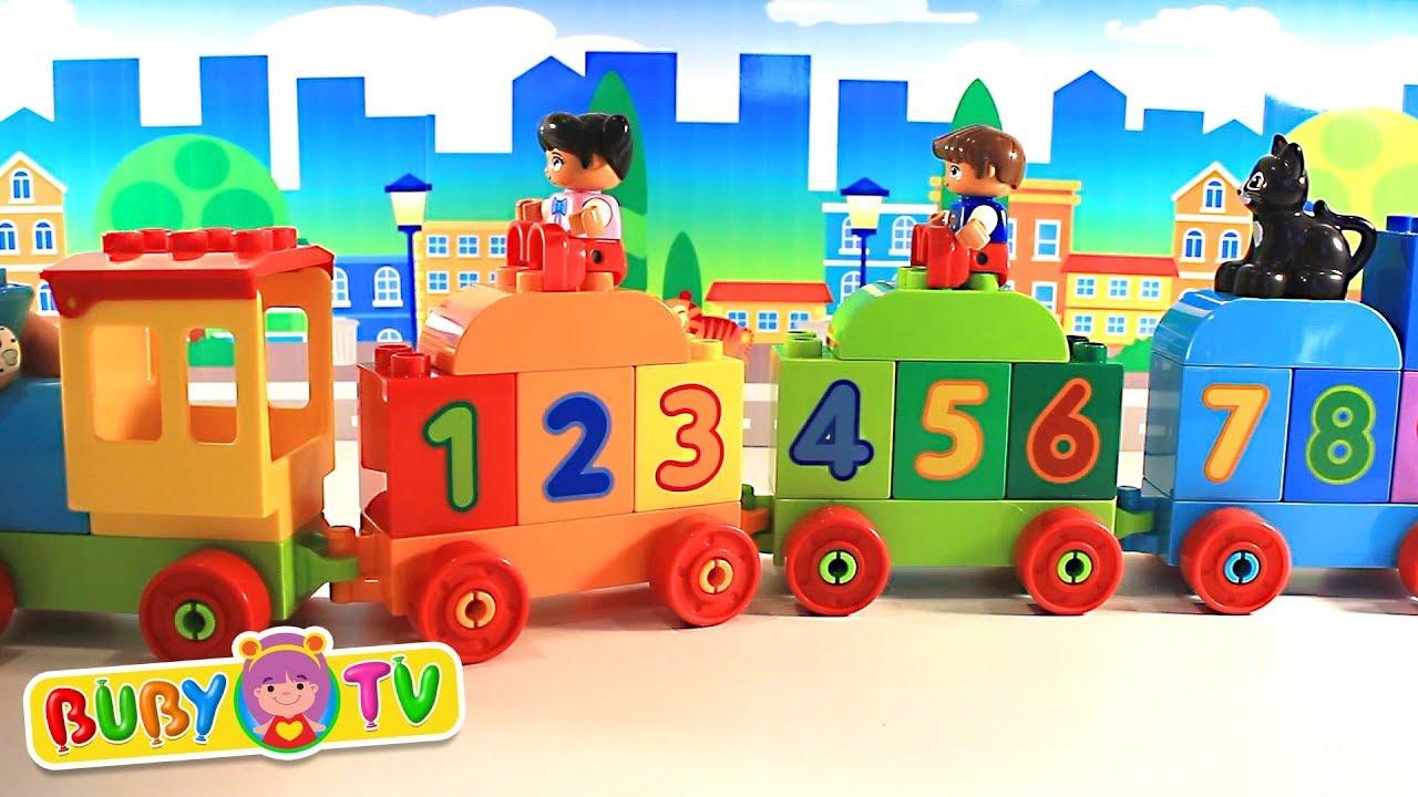 lego duplo trenino numeri colori video educativi per