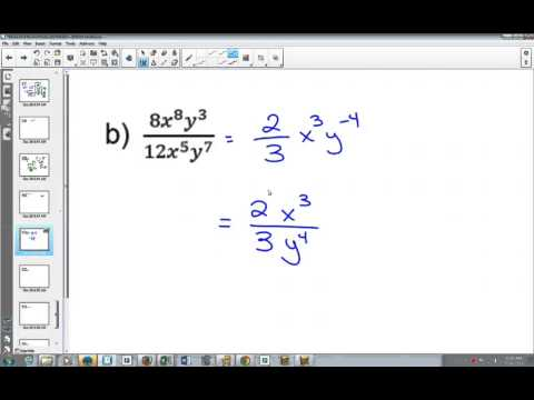 Applying the Exponent Laws