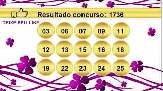 sorteio resultado lotofacil 1736 Palpite 1737
