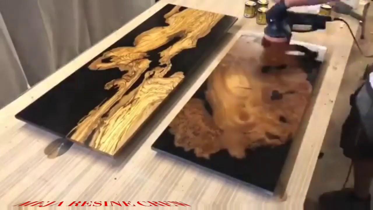 Cara membuat meja resin - YouTube