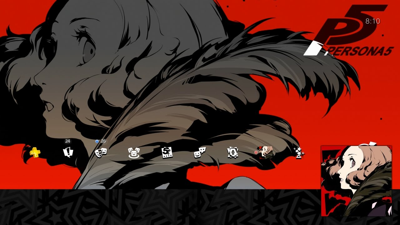 Persona 5 Haru Okumura Special Ps4 Theme Avatar Set Youtube