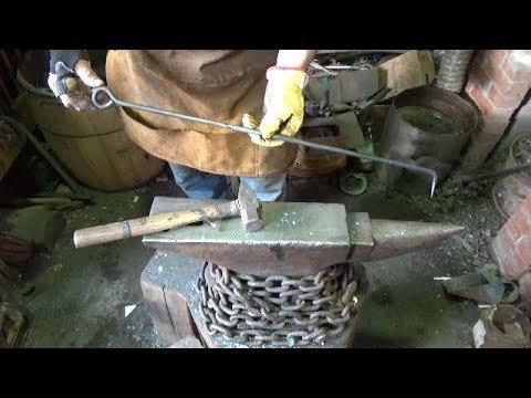 Blacksmithing - Back To The Basics - B2E2 - Forge Tools Exercise - Bent Coal Poker
