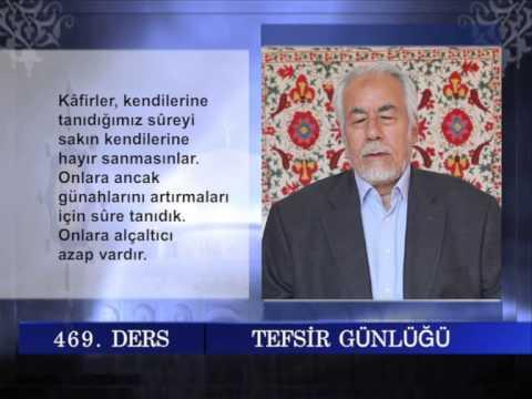 469 TEFSIR GUNLUGU MAHMUT TOPTAŞ AL İ İMRAN SURESİ AYET 176 183